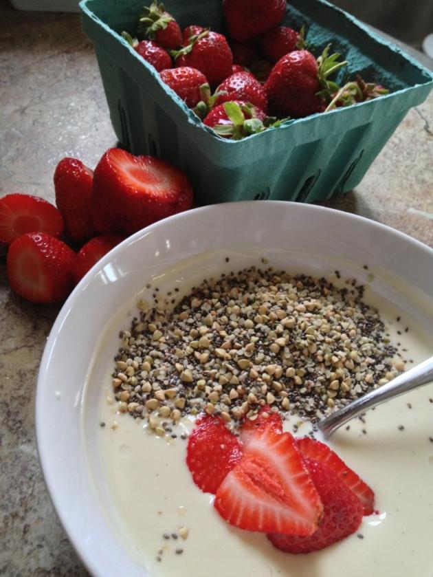 Strawberries, vanilla yogurt, superfood cereal.jpg